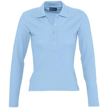 Textiel Dames Polo's lange mouwen Sols PODIUM COLORS Azul
