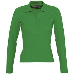 Textiel Dames Polo's lange mouwen Sols PODIUM COLORS Verde