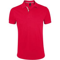 Textiel Heren Polo's korte mouwen Sols PORTLAND MODERN SPORT Rojo