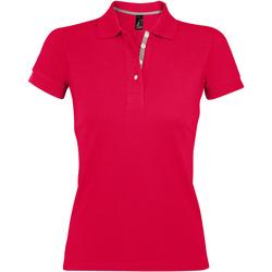 Textiel Dames Polo's korte mouwen Sols PORTLAND MODERN SPORT Rojo