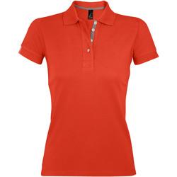 Textiel Dames Polo's korte mouwen Sols PORTLAND MODERN SPORT Naranja