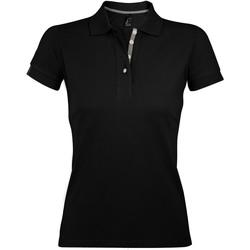 Textiel Dames Polo's korte mouwen Sols PORTLAND MODERN SPORT Negro
