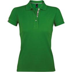 Textiel Dames Polo's korte mouwen Sols PORTLAND MODERN SPORT Verde
