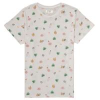 Textiel Meisjes T-shirts korte mouwen Deeluxe ELINA Wit