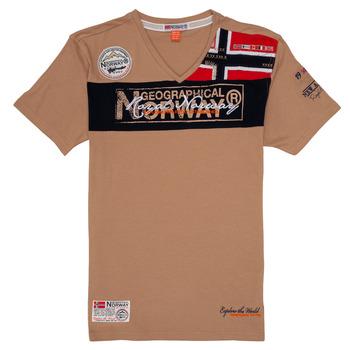 Textiel Jongens T-shirts korte mouwen Geographical Norway JIDNEY Beige