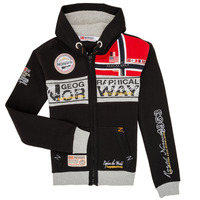 Textiel Jongens Sweaters / Sweatshirts Geographical Norway FLYER Zwart