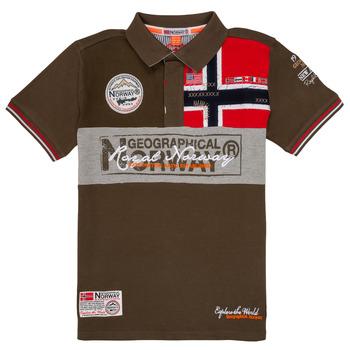 Textiel Jongens Polo's korte mouwen Geographical Norway KIDNEY Kaki