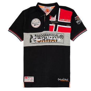 Textiel Jongens Polo's korte mouwen Geographical Norway KIDNEY Zwart