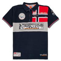 Textiel Jongens Polo's korte mouwen Geographical Norway KIDNEY Marine