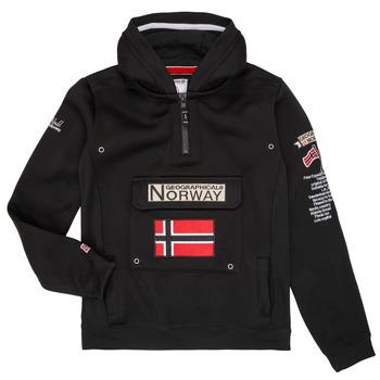 Textiel Jongens Sweaters / Sweatshirts Geographical Norway GYMCLASS Zwart