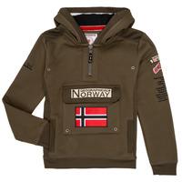 Textiel Jongens Sweaters / Sweatshirts Geographical Norway GYMCLASS Kaki