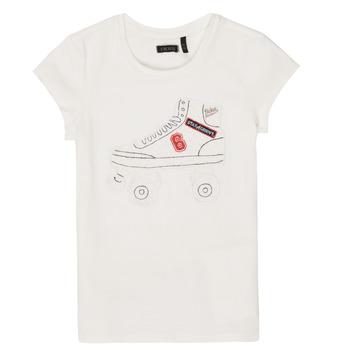 Textiel Meisjes T-shirts korte mouwen Ikks NADANA Wit