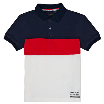 Textiel Jongens Polo's korte mouwen Ikks LORIE Wit
