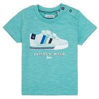 Textiel Jongens T-shirts korte mouwen Ikks MARIA Turquoize