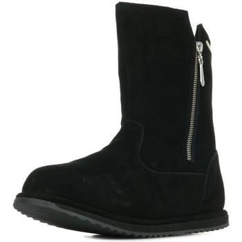 Schoenen Meisjes Hoge laarzen EMU Gravelly Teens Zwart