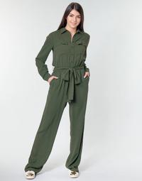 Textiel Dames Jumpsuites / Tuinbroeken MICHAEL Michael Kors ROLL SLV SAFARI JMPST Kaki