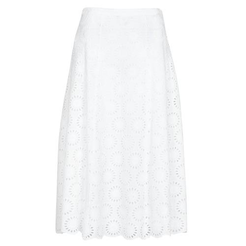 Textiel Dames Rokken MICHAEL Michael Kors FLORAL EYLT LNG SKIRT Wit