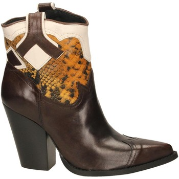 Schoenen Dames Enkellaarzen Oasi Private Collection STIVALETTI tequila-senape-bianc