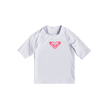 Ondergoed Meisjes Hemden Roxy WHOLE HEARTED LS Bright / Wit