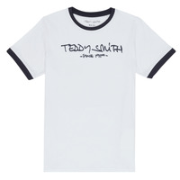 Textiel Jongens T-shirts korte mouwen Teddy Smith TICLASS 3 Wit