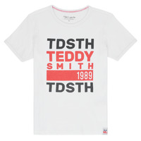 Textiel Jongens T-shirts korte mouwen Teddy Smith DUSTIN Wit