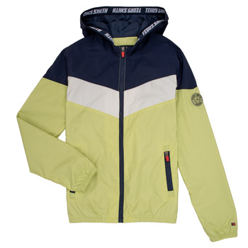 Textiel Jongens Wind jackets Teddy Smith SNIL Marine / Wit / Groen