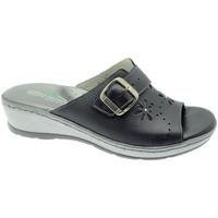 Schoenen Dames Leren slippers Florance FL22530bl blu