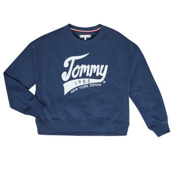 Textiel Meisjes Sweaters / Sweatshirts Tommy Hilfiger  Marine