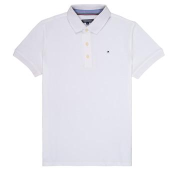 Textiel Jongens Polo's korte mouwen Tommy Hilfiger KB0KB03975 Wit