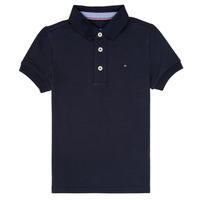 Textiel Jongens Polo's korte mouwen Tommy Hilfiger KB0KB03975 Marine