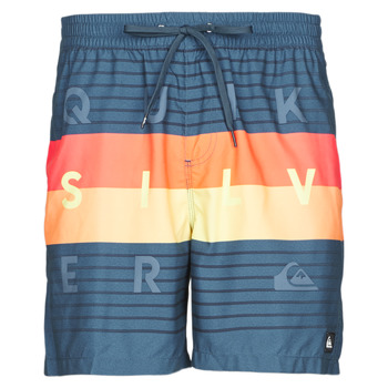 Textiel Heren Zwembroeken/ Zwemshorts Quiksilver WORD BLOCK VOLLEY Multicolour
