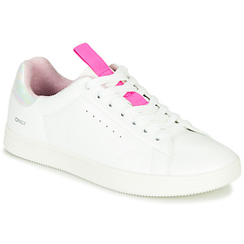 Schoenen Dames Lage sneakers Only SHILO PU IRIDESCENT Wit / Roze