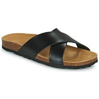 Schoenen Dames Leren slippers Only MADISON CROSS LEATHER Zwart