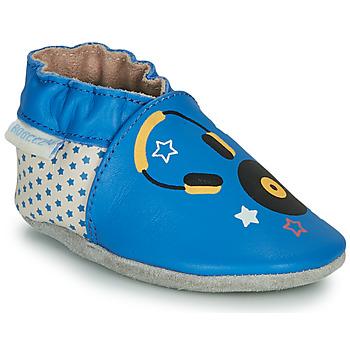 Schoenen Kinderen Sloffen Robeez MUSIC SOUND Blauw / Beige