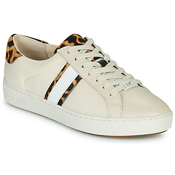 Schoenen Dames Lage sneakers MICHAEL Michael Kors IRVING STRIPE LACE UP Ecru / Luipaard