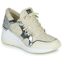 Schoenen Dames Lage sneakers MICHAEL Michael Kors LIV TRAINER Beige / Zilver