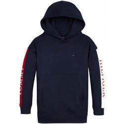 Textiel Meisjes Sweaters / Sweatshirts Tommy Hilfiger ESSENTIAL COLORBLOCK LOGO HOODIE Marino