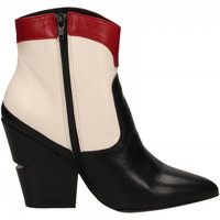 Schoenen Dames Enkellaarzen Oasi Private Collection STIVALETTI nero-bianco-rosso