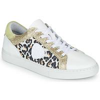 Schoenen Dames Lage sneakers Philippe Morvan FURRY Wit / Luipaard / Glitter