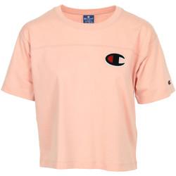 Textiel Dames T-shirts korte mouwen Champion Crewneck T-Shirt Roze