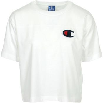 Textiel Dames T-shirts korte mouwen Champion Crewneck T-Shirt Wit