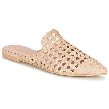 Schoenen Dames Leren slippers Pretty Ballerinas COTON ROSATO Beige