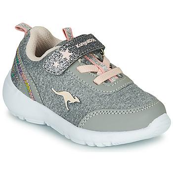 Schoenen Meisjes Lage sneakers Kangaroos KY-CITYLITE EV Grijs / Roze