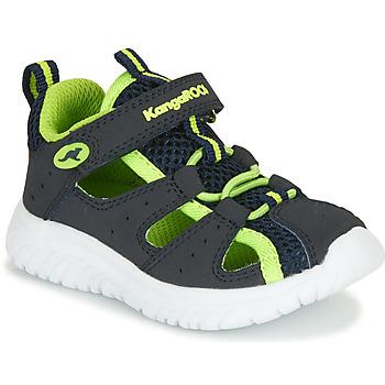 Schoenen Jongens Sandalen / Open schoenen Kangaroos KI-Rock Lite EV Blauw / Geel