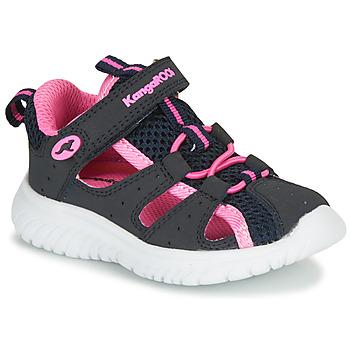 Schoenen Meisjes Sandalen / Open schoenen Kangaroos KI-ROCK LITE EV Blauw / Roze