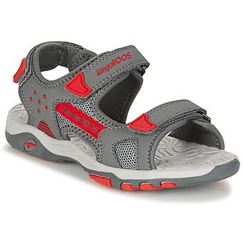 Schoenen Jongens Sandalen / Open schoenen Kangaroos K-CELTIC Grijs / Oranje