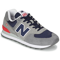 Schoenen Heren Lage sneakers New Balance 574 Grijs / Blauw / Rood