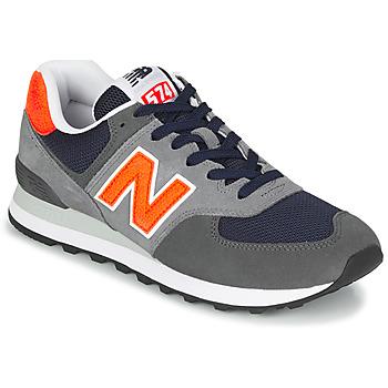 Schoenen Heren Lage sneakers New Balance 574 Grijs / Oranje