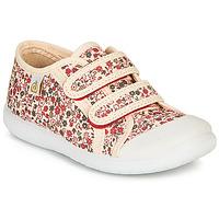 Schoenen Meisjes Lage sneakers Citrouille et Compagnie GLASSIA Ecru / Multicolour