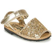 Schoenen Meisjes Sandalen / Open schoenen Citrouille et Compagnie SQUOUBEL Goud